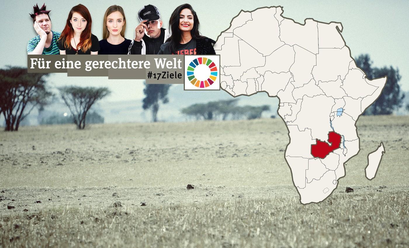 GEMEINSAM FÜR AFRIKA reist mit den YouTubern Ischtar Isik, CrispyRob, manniac, einfach Inka und Juliane von Jung&naiv nach Sambia #17Ziele
