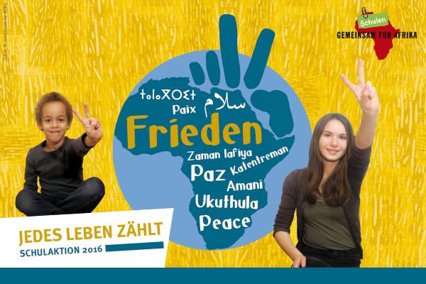 Banner Schulaktion Frieden - Jedes Leben zählt