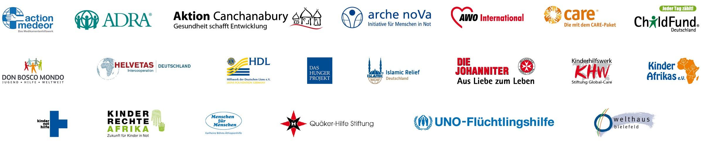 Logoleiste - Mitgliedsorganisationen 2017