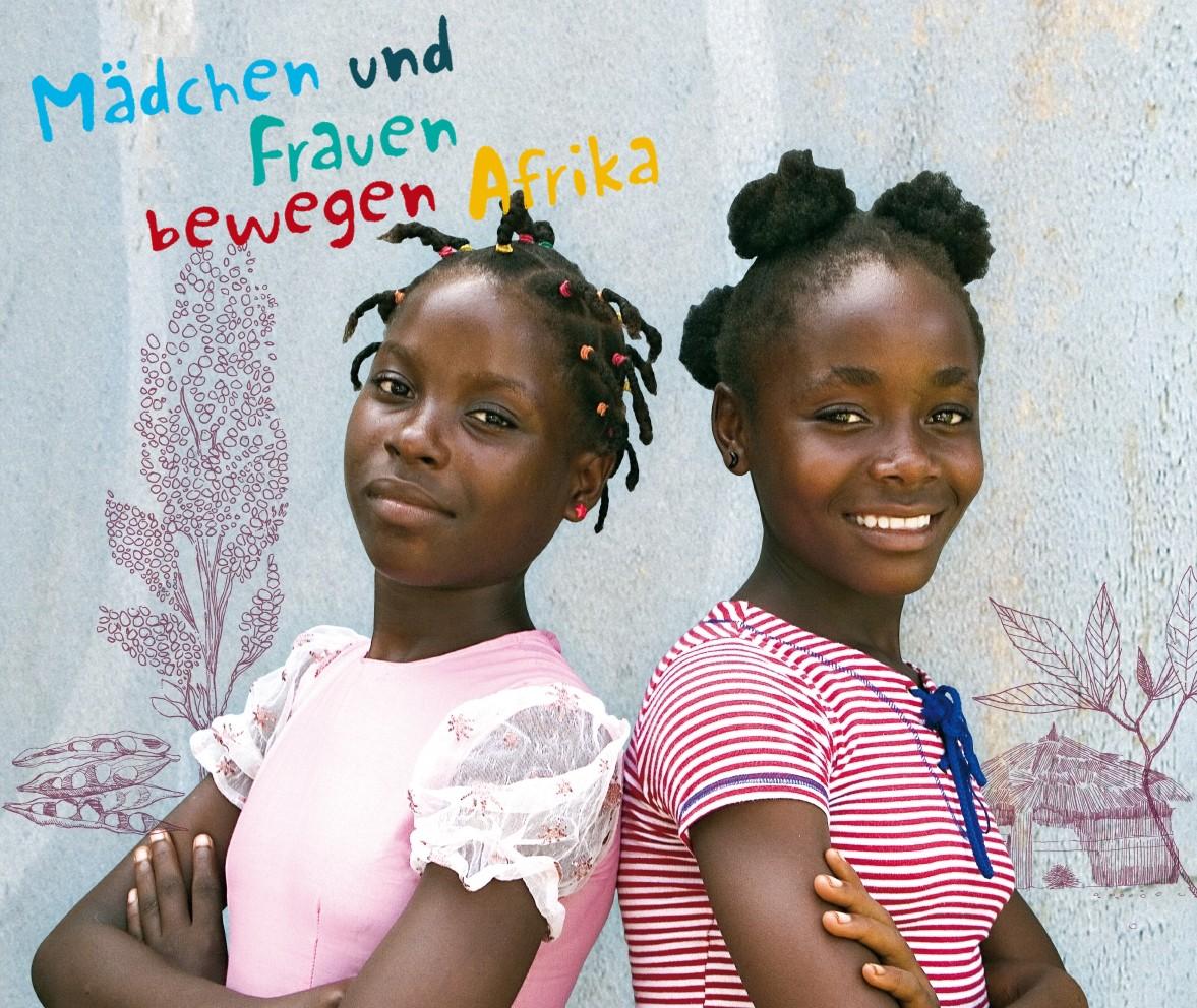 """Banner Schulaktion """"Mädchen und Frauen bewegen Afrika"""""""