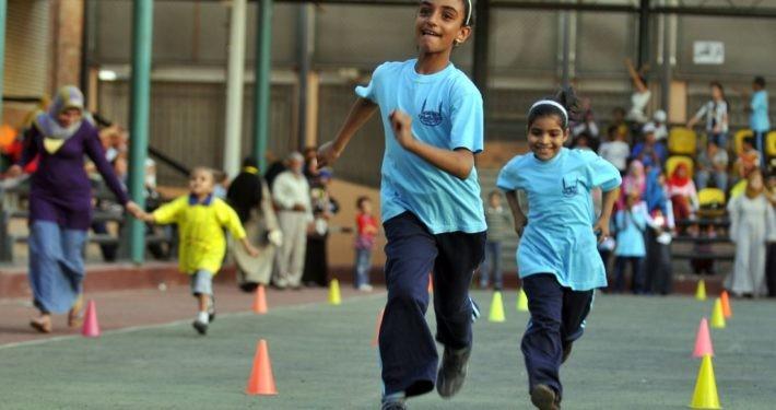 Kinder vom Rehabilitations- und Therapiezentrum in Kairo rennen um die Wette_©Islamic Relief