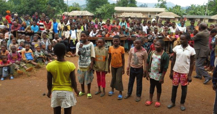Rollenspiel zur Sensibilisierung der Bevölkerung _© CIPCRE Kamerun