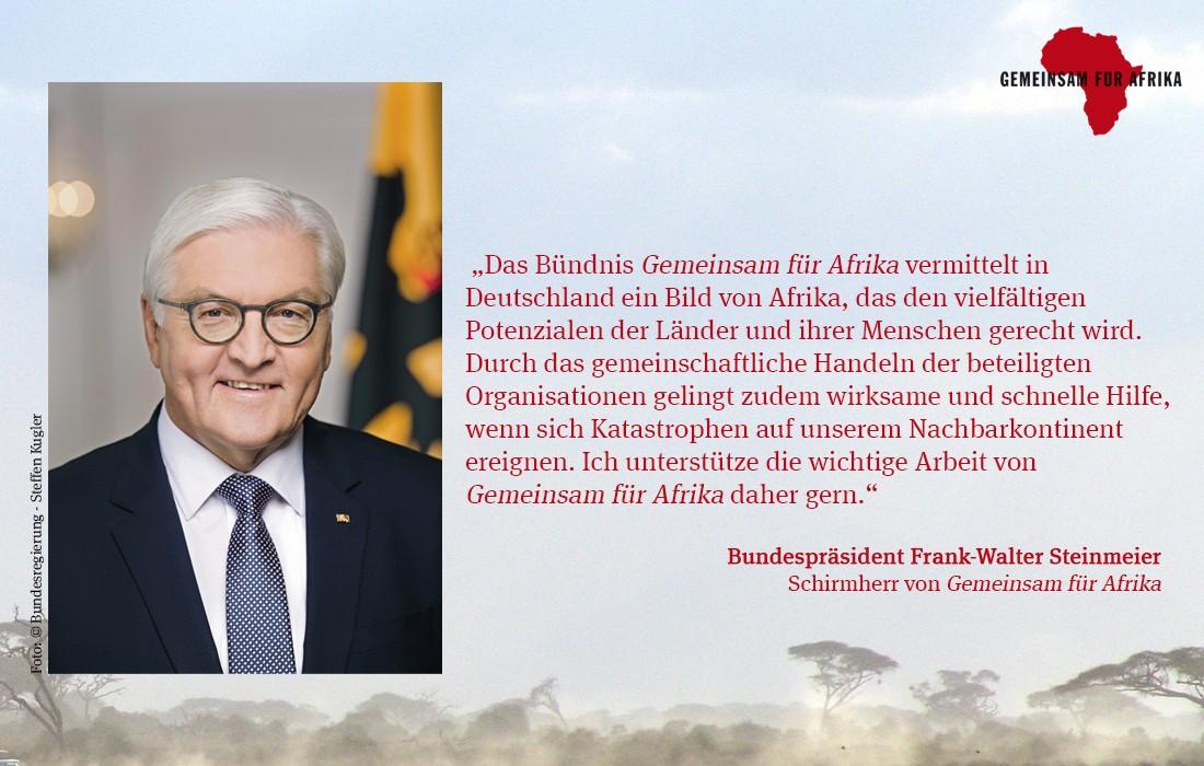 Bundespräsident Steinmeier Schimrherr von Gemeinsam für Afrika