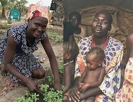 Rose (links) bei der Feldarbeit, Anja (rechts) im Flüchtlingslager von Wau, nachdem sie der Konflikt eingeholt hat. © Johanniter-Unfall-Hilfe