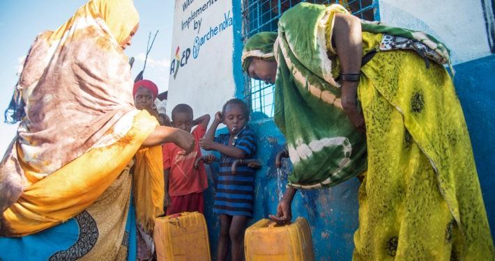Wasserversorgung in Somalia Flüchtlinge