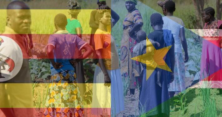 Südsudanesische Flüchtlinge erhalten Zuflucht in Uganda. Foto: GEMEINSAM FÜR AFRIKA