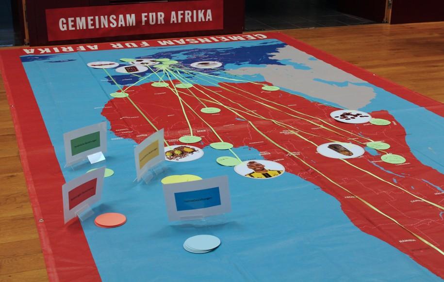 Das Vernetzungsspiel: Spurensuche Afrika-Europa ©Gemeinsam für Afrika