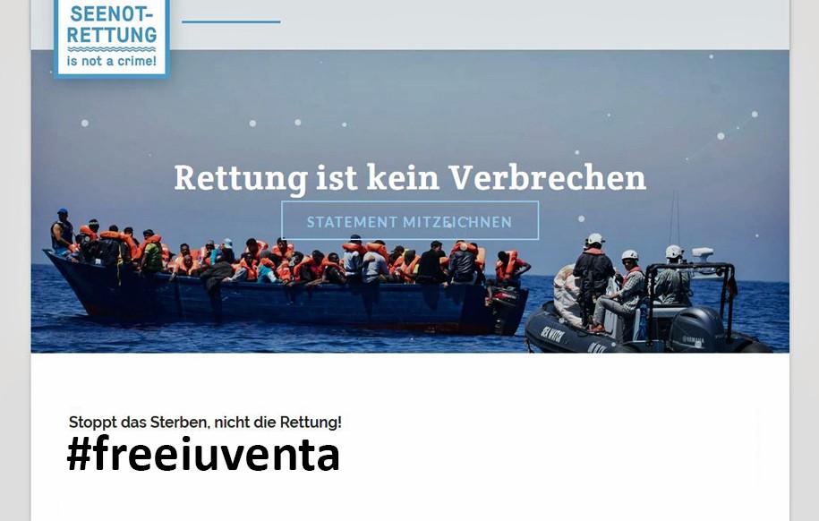 Petition Seenotrettung: GEMEINSAM FÜR AFRIKA unterstützt #freeiuventa