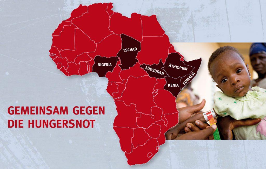 Gemeinsam gegen die Hungersnot. Foto: GEMEINSAM FÜR AFRIKA