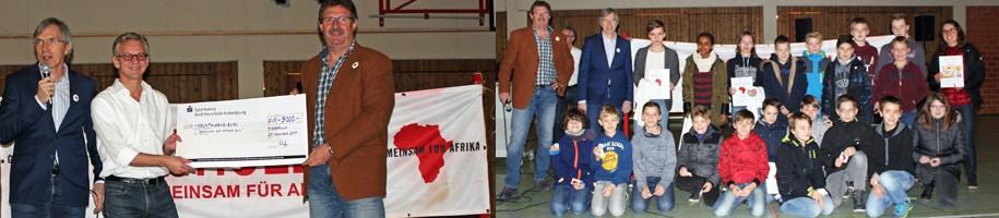 Gesamtschule Niederaula: Spendenübergabe an GEMEINSAM FÜR AFRIKA
