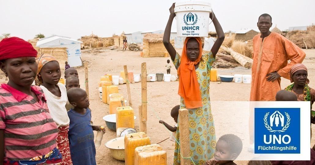 UNO Flüchtlingshilfe e.V. ist Mitglied von GEMEINSAM FÜR AFRIKA. Foto: UNO Flüchtlingshilfe e.V./Helene Caux