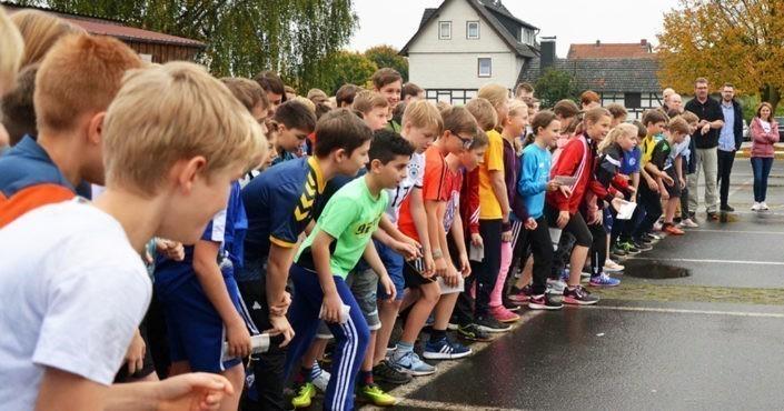 Aktion für GEMEINSAM FÜR AFRIKA: Run for help ©Gesamtschule Niederaula