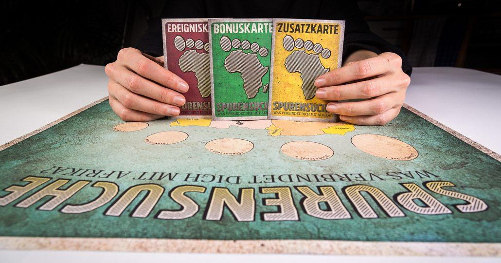 Gruppenspiel Spurensuche: Foto von den Spielmaterialien_©Ralf Rebmann