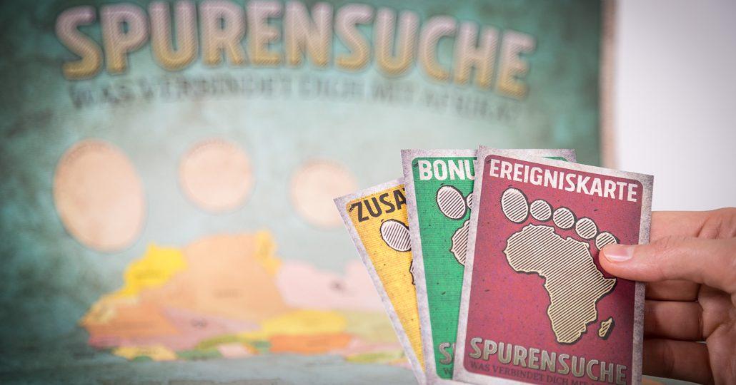 Gruppenspiel Spurensuche: Foto von den Spielkarten_©Ralf Rebmann