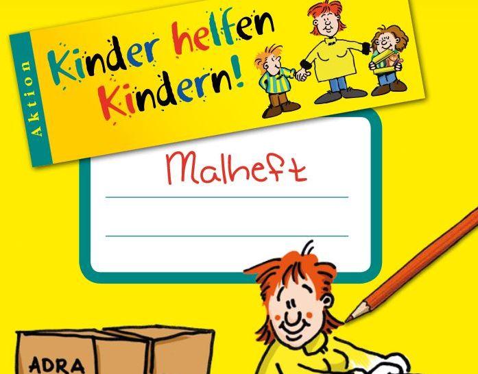 ADRA_Unterrichtsmaterial_Malheft_Kinder_helfen_Kindern_Beitagsbild_©ADRA