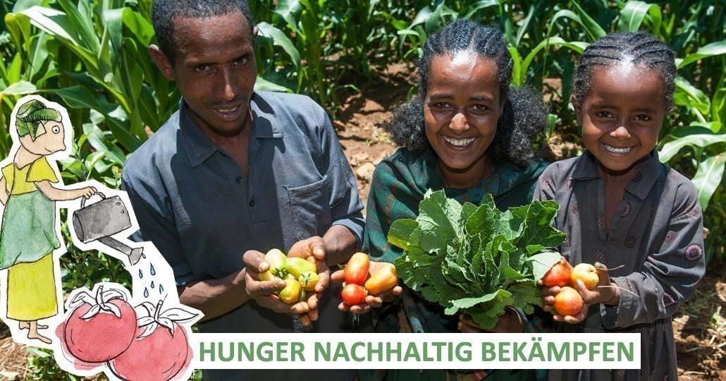 Die Mitgliedsorganisationen von GEMEINSAM FÜR AFRIKA setzen sich für eine vielfältige Ernährung ein._©Rainer Kwiotek/Menschen für Menschen