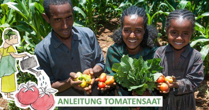 Folge der Anleitung von GEMEINSAM FÜR AFRIKA und pflanze deine eigene Tomate._©GEMEINSAM FÜR AFRIKA
