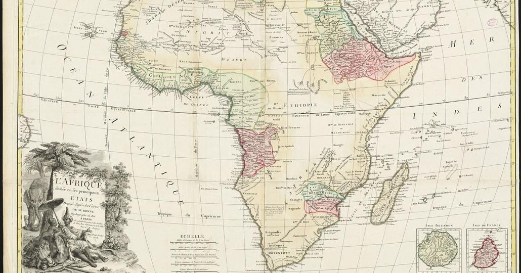 Landkarte Afrika - CC BY 2.0 L'Afrique divisée en ses principaux états, Norman B. Leventhal Map Center, https://www.flickr.com/photos/normanbleventhalmapcenter/20748221221/