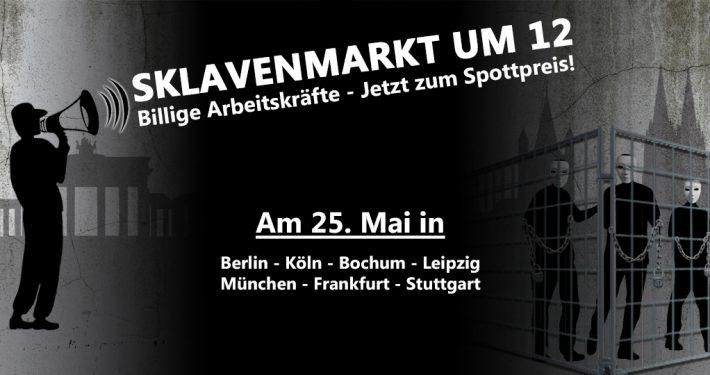 In 7 deutschen Großstädten können Sie am 25. Mai Ihren eigenen Sklaven ersteigern!