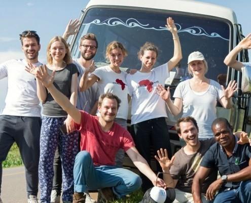 Gruppenfoto Uganda_©Gemeinsam für Afrika / Stefan Trappe