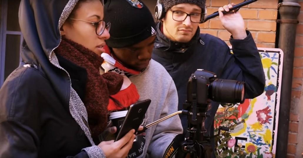 Das DRAUFSICHT-Team beim Filme machen._©DRAUFSICHT