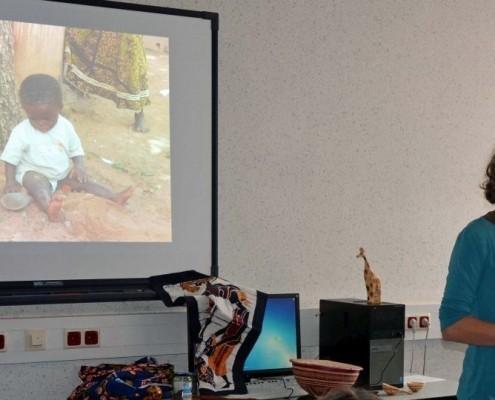 Für die Schul-Aktion der Schulaktion Niederaula war auch eine unserer Referent*innen vor Ort ©Gesamtschule Niederaula