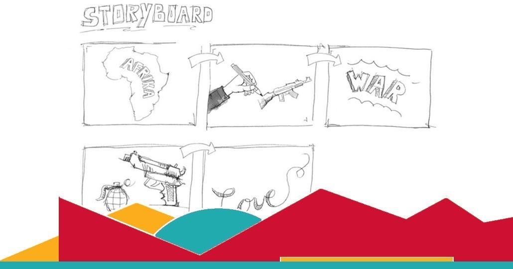 """Schulaktion starten: Schüler*innen des Syke Gymnasiums produzieren innerhalb eines Projekttages mehrere Lernvideos zum Thema """"Bedeutung der Rüstung für Afrika"""" _©GEMEINSAM FÜR AFRIKA"""