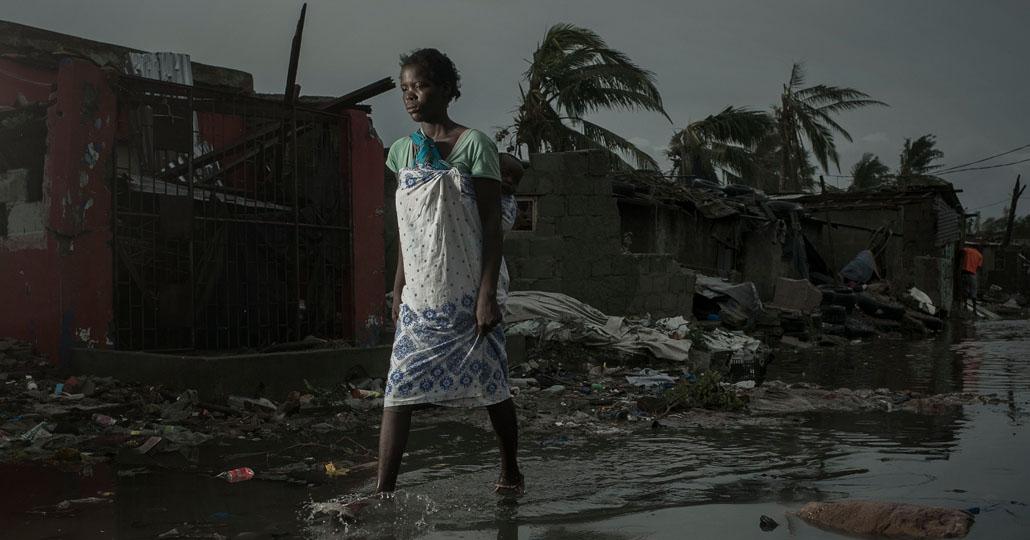 Wirbelsturm Idai hat In Mosambik, Simbabwe und Malawi für Verwüstung gesorgt. Hunderttausende Menschen haben alles verloren! _© care.de/Josh Estey