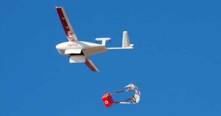 Zipline Lieferung per Drohne _© Zipline