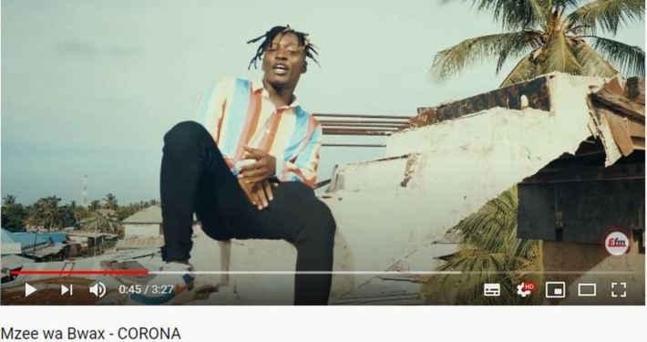 Screenshoot von YouTube: Mzee wa Bwax - CORONA