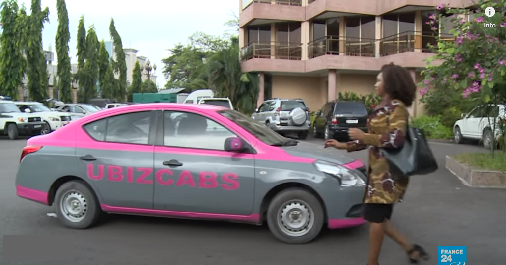 Screenshot: France24 - DR Congo taxi service puts women in the driver's seat