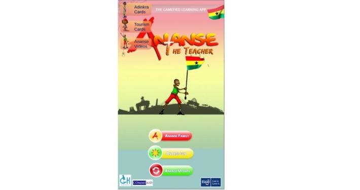 Screenshot der Ananse the Teacher App
