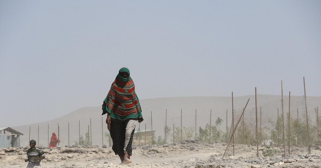 Geflüchtete Frau in Äthiopien