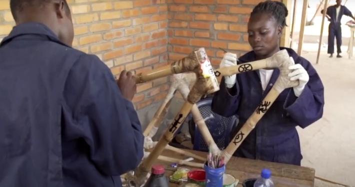 Fahrräder der Ghana Bamboo Bike Initiative