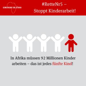 Jedes fünfte Kind in Afrika leidet unter Kinderarbeit
