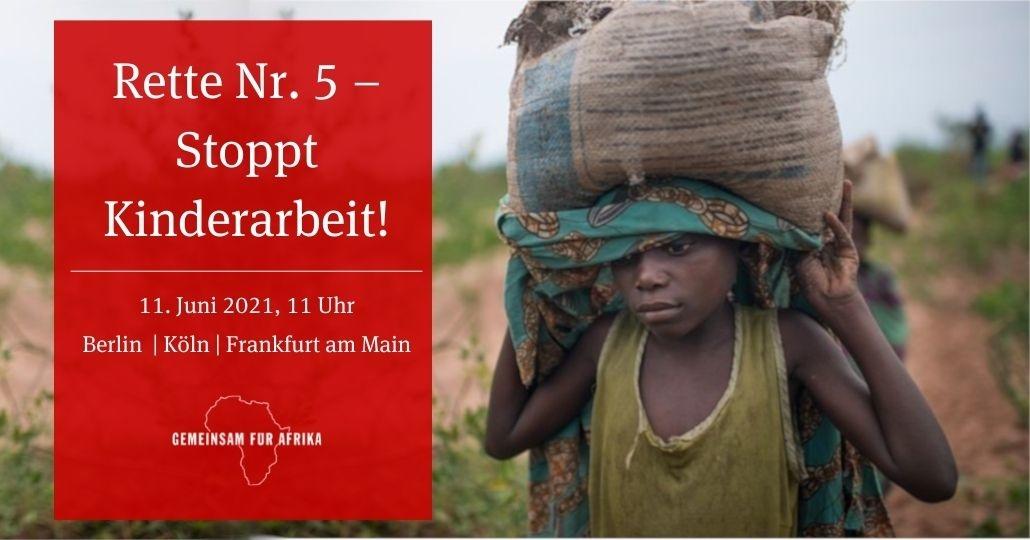 Straßenaktion 2021 gegen Kinderarbeit © GEMEINSAM FÜR AFRIKA e.V.