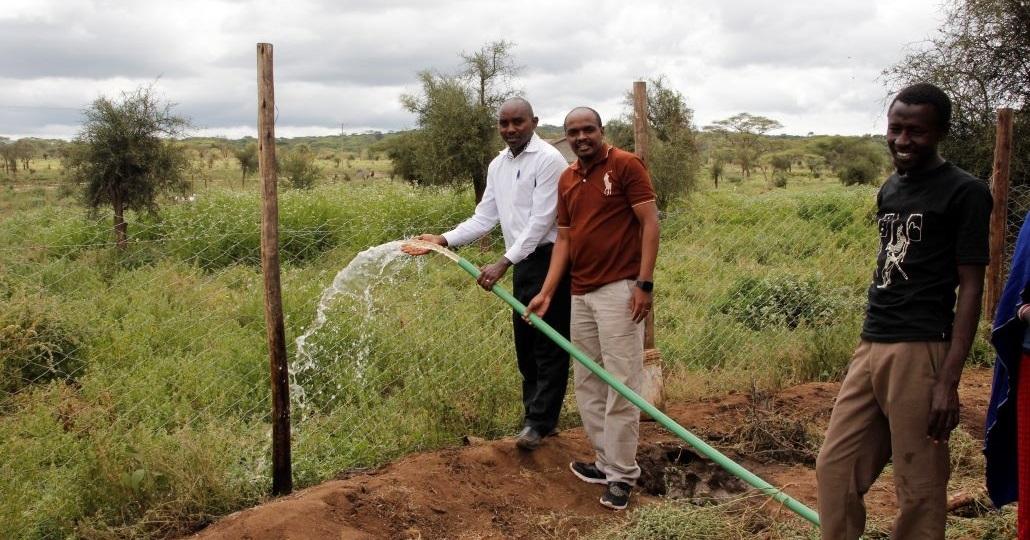 Bewässerung in Ilbisil © ora Kinderhilfe